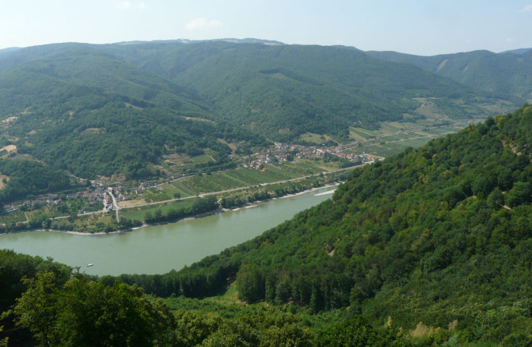 Wachau valley with Donau river